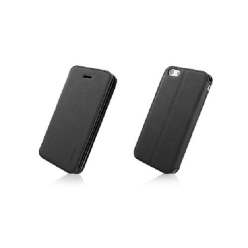 CAPDASE Folder Case Sider Baco Series for Apple iPhone 5C - Black/Black [FCIHM-SB11] - Casing Handphone / Case